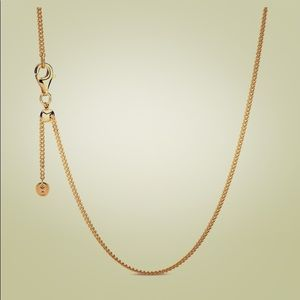 Pandora Gold Curb Chain Necklace